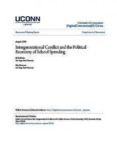 Intergenerational Conflict and the Political Economy of School Spending
