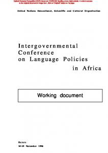 Intergovernmental Conference on Language Policies in Africa