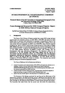 INTERGOVERNMENTAL OCEANOGRAPHIC COMISSION (of UNESCO)