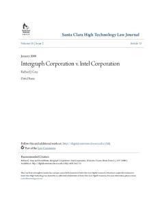 Intergraph Corporation v. Intel Corporation