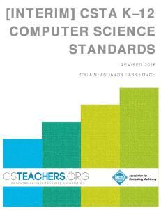 [INTERIM] CSTA K 12 COMPUTER SCIENCE STANDARDS