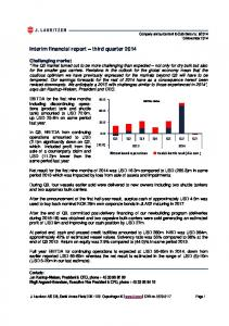 Interim financial report third quarter 2014
