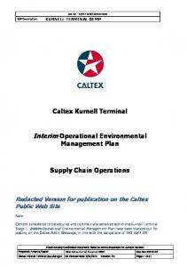 Interim Operational Environmental Management Plan