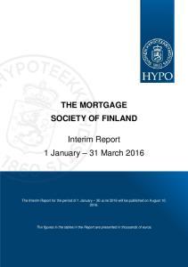Interim Report 1 January 31 March 2016