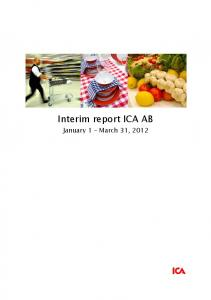 Interim report ICA AB. January 1 March 31, 2012