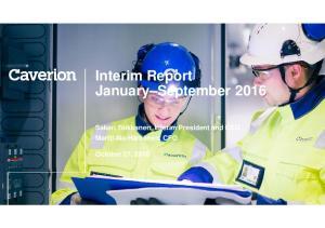 Interim Report January September 2016