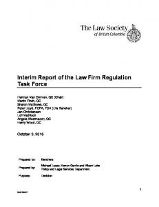 Interim Report of the Law Firm Regulation Task Force