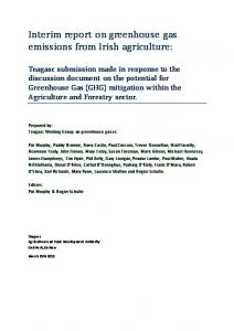 Interim report on greenhouse gas emissions from Irish agriculture:
