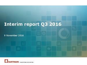Interim report Q November 2016