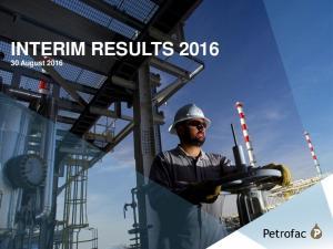 INTERIM RESULTS August 2016