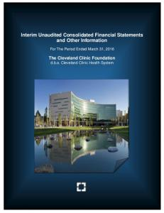 Interim Unaudited Consolidated Financial Statements and Other Information