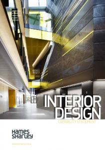 INTERIOR DESIGN. capability statement