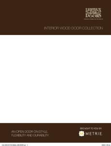 INTERIOR WOOD DOOR COLLECTION