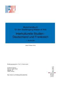 Interkulturelle Studien - Deutschland und Frankreich