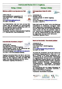 Interkulturelle Wochen 2012 in Augsburg