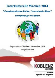 Interkulturelle Wochen 2014
