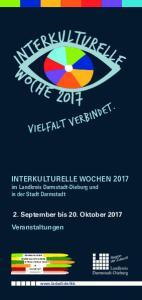 INTERKULTURELLE WOCHEN 2017 im Landkreis Darmstadt-Dieburg und in der Stadt Darmstadt