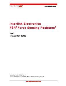 Interlink Electronics FSR Force Sensing Resistors