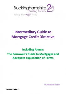 Intermediary Guide to Mortgage Credit Directive