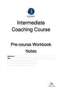 Intermediate Coaching Course