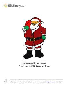 Intermediate Level Christmas ESL Lesson Plan