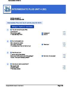 INTERMEDIATE PLUS UNIT 4 (B2)
