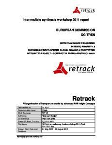 Intermediate synthesis workshop 2011 report
