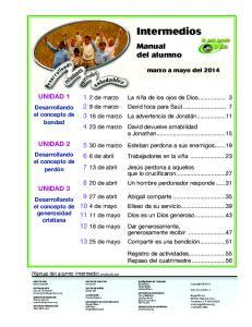 Intermedios. Manual del alumno UNIDAD 1