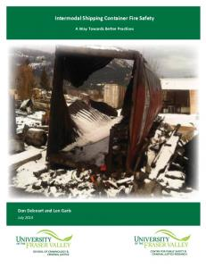 Intermodal Shipping Container Fire Safety