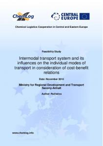 Intermodal transport system and its influences on the individual modes of transport in consideration of cost-benefit relations