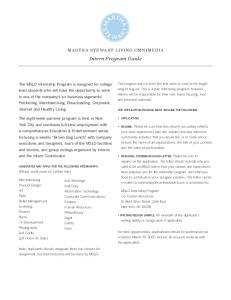 Intern Program Guide