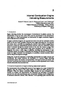 Internal Combustion Engine Indicating Measurements