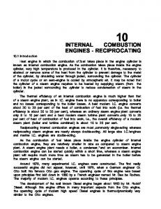 INTERNAL COMBUSTION ENGINES - RECIPROCATING