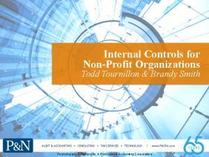 Internal Controls for Non-Profit Organizations