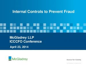 Internal Controls to Prevent Fraud