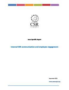 Internal CSR communication and employee engagement