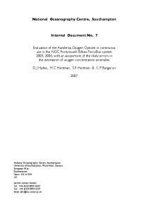 Internal Document No. 7