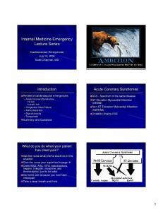 Internal Medicine Emergency Lecture Series