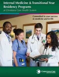 Internal Medicine & Transitional Year Residency Programs
