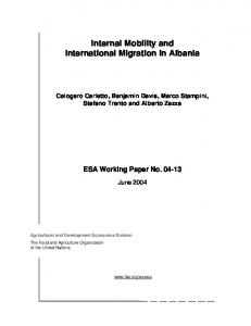 Internal Mobility and International Migration in Albania