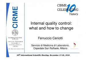 Internal quality control: what and how to change
