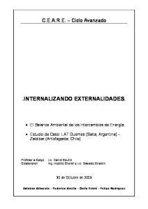 INTERNALIZANDO EXTERNALIDADES