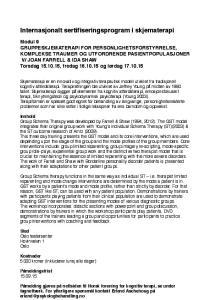 Internasjonalt sertifiseringsprogram i skjematerapi!