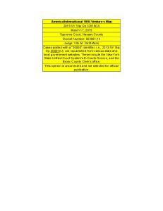 International 1994 Venture v Mau 2015 NY Slip Op 32618(U) March 17, 2015 Supreme Court, Nassau County Docket Number: Judge: Vito M