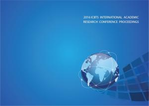 International Academic Multidisciplinary Research Conference Proceeding of