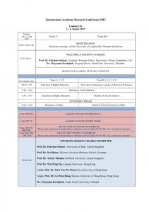 International Academic Research Conference 2015
