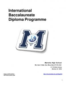 International Baccalaureate Diploma Programme