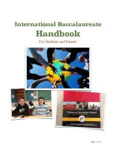 International Baccalaureate Handbook