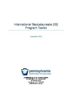International Baccalaureate (IB) Program Toolkit