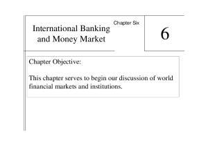 International Banking and Money Market